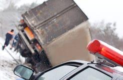 Arresto del camion immagine stock