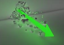 Arresto della freccia Immagine Stock