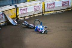 Arresto della gara motociclistica su pista Fotografie Stock