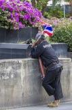 Arresto di Bangkok: 14 gennaio 2014 Fotografia Stock Libera da Diritti