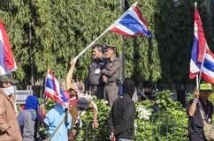 Arresto di Bangkok: 14 gennaio 2014 Fotografia Stock