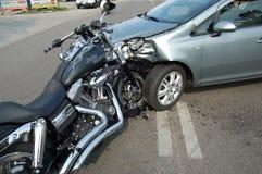 Arresto di motociclo nell'area urbana Fotografia Stock Libera da Diritti