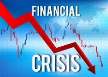 Arresto economico del mercato di crollo di crisi finanziaria illustrazione vettoriale