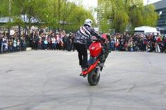 Arresto pilota sul quadrato - Pjatigorsk Russia di stile libero di Moto Fotografie Stock