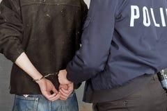 arrestsuspect Arkivbild
