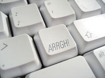 ARRGH keyboard Royalty Free Stock Photography