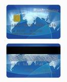 Arrière avant et par la carte de crédit illustration stock