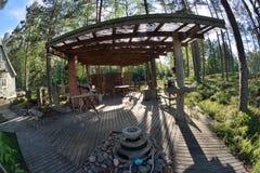 Arrière-cour de jardin de la Finlande Images libres de droits