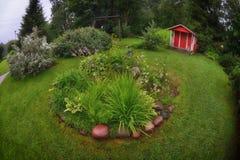 Arrière-cour de jardin de la Finlande Image stock
