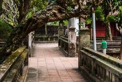 Arrière-cour vietnamienne de temple Photos libres de droits
