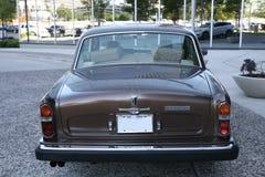 Arrière d'ombre d'argent de Rolls Royce Photographie stock libre de droits