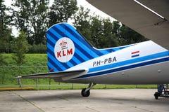 Arrière de vieille KLM DC-3 images libres de droits