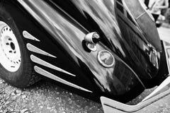 Arrière de vieille voiture classique Pékin, photo noire et blanche de la Chine Images libres de droits