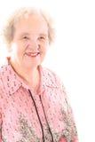 Arrière grand-mère d'isolement sur le blanc Images libres de droits