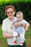 Arrière grand-mère fier Photographie stock