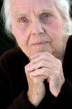 Arrière grand-mère sérieux Photo libre de droits