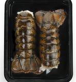 Arrières de homard crus Image libre de droits