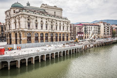 Arriaga teater i Bilbao Royaltyfri Bild