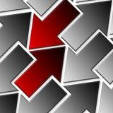 Arriba y abajo de flechas Imágenes de archivo libres de regalías