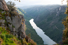 Arribes del Duero river, Salamanca, Spain. Panoramic view from above. Royalty Free Stock Photo