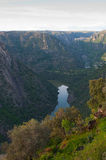 Arribes del Duero river, Salamanca, Spain. Panoramic view from above. Stock Photography