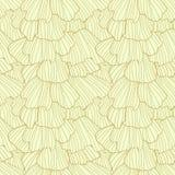 Arricciamenti astratti di scarabocchio Reticolo senza giunte Fotografia Stock