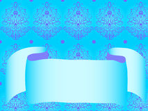 Arricciatura blu e nastro del reticolo Fotografia Stock Libera da Diritti