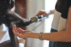 Arricciatura dei capelli Fotografia Stock