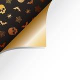 Arricciatura del documento di Halloween illustrazione di stock