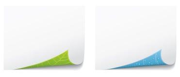 Arricciatura di carta della pagina. Concetto dell'ambiente. illustrazione di stock