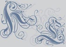 Arricciatura originale in un 1. d'angolo. Illustrazione Vettoriale