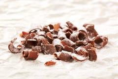 Arricciature del cioccolato fotografia stock