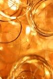 Arricciature dorate Fotografia Stock