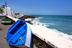 Arrieta Haria boat in Lanzarote coast at Canaries Stock Image