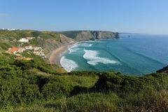 Arrifana beach in South-West Alentejo and Costa Vi Royalty Free Stock Photo