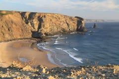 Arrifana beach. At sunset time, Aljezur, Portugal stock image