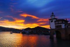 Arriluze Getxo στο ηλιοβασίλεμα Στοκ φωτογραφία με δικαίωμα ελεύθερης χρήσης