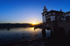 Arriluze in Getxo at sunset Royalty Free Stock Photos