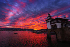 Arriluze in Getxo at sunset Royalty Free Stock Photo