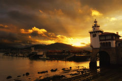 Arriluze in Getxo at sunset Stock Photography