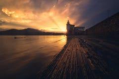 Arriluze latarnia morska w Getxo Obraz Stock