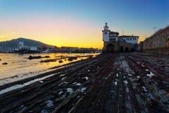 Arriluze lighthouse in Getxo Stock Photography