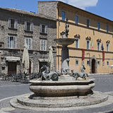 Arringo Square is the oldest monumental square of the city of Ascoli Piceno. Stock Photo
