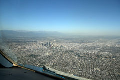 Arrinving in LA fotografia stock libera da diritti