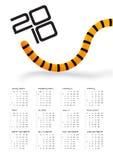 Arrière 2010 de tigre de calendrier Photos libres de droits
