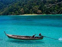 arrière Thaïlande de surin d'île de bateau long Image libre de droits
