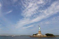 Arrivée à la statue de la liberté Photos stock