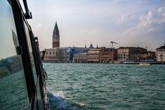 Arrivée chez San Marcos à Venise dans un jour brillant lumineux Photo stock