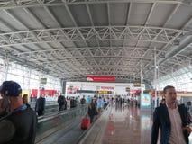 Arrivée d'aéroport de Bruxelles Photos stock