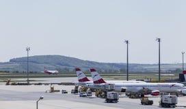 Arrivée d'aéroport de Vienne Photo libre de droits